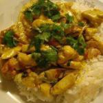 American Chicken Curry with Green Pepper Dinner