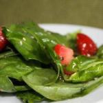 American Spinach Salad and Strawberries Dessert