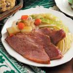 British Slow Cooker Corned Beef Supper Dinner