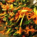 American Carrot Salad with Green Cabbage and Celery Appetizer