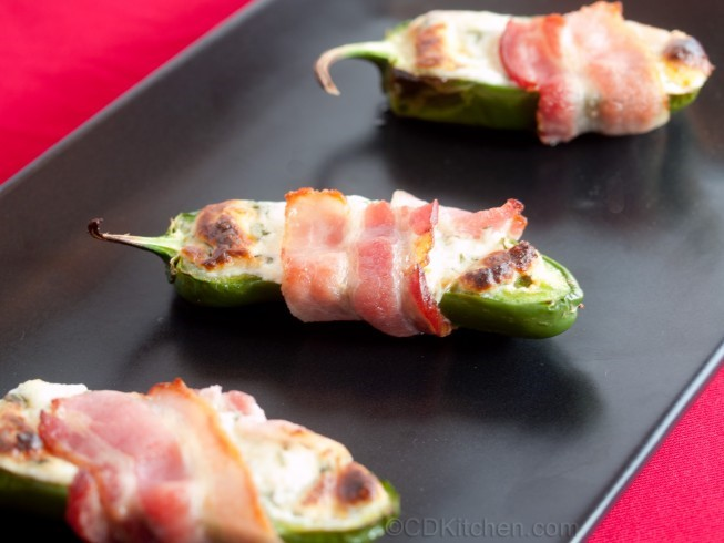 American Baconwrapped Stuffed Jalapenos Appetizer