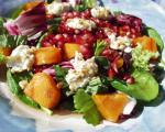 American Pomegranate Persimmon Salad With Warm Goat Cheese Dinner