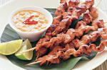 British Satay Pork Skewers Recipe 1 Appetizer