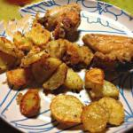 Canadian Chicken Wings Dipped in Breadcrumbs with Baked Potatoes Appetizer