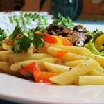 American Penne Pasta with Peppers Recipe Dinner