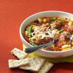 Canadian Veggie Soup with Meatballs Appetizer