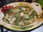 American Braised Chicken With Red Potatoes and Tarragon Broth Appetizer