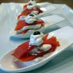 Spoons of Isa the Smoked Salmon with Horseradish Sauce recipe