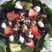 Ukrainian Spinach and Strawberry Salad 1 Appetizer
