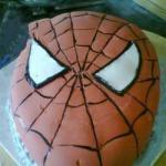 American Spiderman Birthday Cake Appetizer