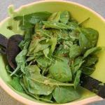 Canadian Spinach Salad with Warm Dressing of Mustard and Bacon Dessert