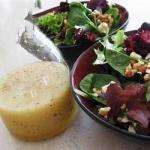 American Beetroot Spinach and Walnuts Salad Appetizer