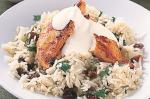 Indian Spiced Chicken With Raisin And Coriander Pilaf Recipe recipe