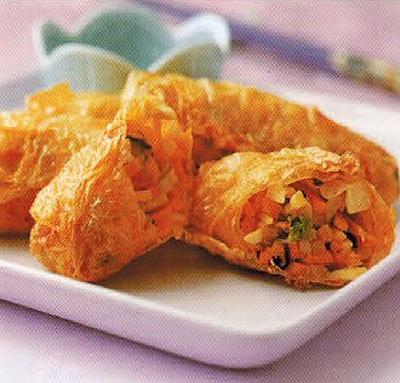 Chinese Vegetables In Bean Curd Appetizer