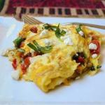 Australian Scrambled Eggs with Tomatoes and Sweet Pepper Appetizer
