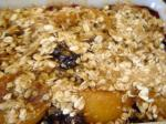 American Blueberry Peach Almond Crisp Dessert