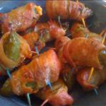 Jalapenos Stuffed W Crab and Smoked Cheddar Wrapped in Bacon recipe