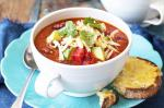 Mexican Tomato And Bean Soup With Cheese Toasts Recipe recipe