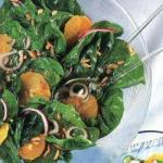 Italian Spinach Salad with Orange Appetizer