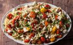 American Spaghetti with Roasted Cherry Tomatoes Feta and Herbs Recipe Appetizer