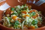 Canadian Zucchini Pasta with Sungold Tomatoes Corn and Sunflower Seeds Recipe Appetizer