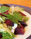 American Roasted Beet Salad with Goat Cheese Walnuts and Honeydijon Vinaigrette Appetizer