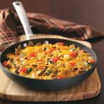 American Vegetable Beef Bow Tie Skillet Appetizer