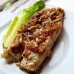 American Halibut with Onion and Pine Nuts Dessert