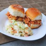 Slow Cooker Buffalo Chicken Sandwiches crockpot recipe