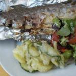 Australian Stuffed Trout with Grill Dinner