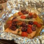Canadian Salmon En Papillote with Olives and Capers Appetizer