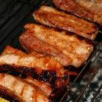 Chinese Spare Ribs of the Bbq BBQ Grill