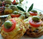 American Mini Cheese and Olive Welsh Rarebit Bites for Festive Frolics Appetizer