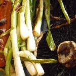 British Spring Onions with Dip Appetizer