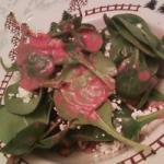 American Spinach and Goat Cheese Salad with Beetroot Vinaigrette Recipe Dinner
