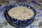 American Creamy Wild Rice and Mushroom Soup in a Jar Dinner