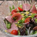 American Salad of Vegetables to Salami Appetizer
