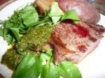 Cool Jazz and Hot to Trot South American Chimichurri Steak recipe