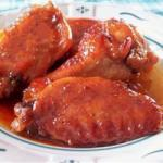 American Sweet and Gooey Chicken Wings Recipe Appetizer
