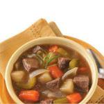 American Vegetable Beef Stew for Two Appetizer