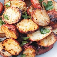 American Grilled Potatoes with Garlic-herb Oil Dinner