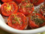 British Baked Baby Roma Tomatoes Appetizer