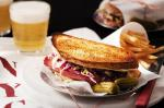 French Reuben Sandwiches With French Fries Recipe Appetizer