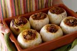 American Pork and Cornbread Pecan Stuffed Onions Recipe Appetizer