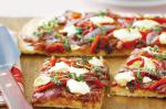 American Caramelised Onion And Creamy Feta Pizza Recipe Appetizer