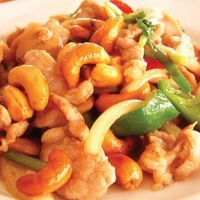 Jamaican Bamboo Shoots with Cashew Chicken Appetizer