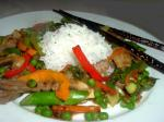 American Beef and Asparagus Stirfry Dinner