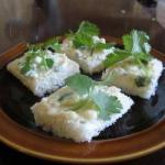 American Canapes of Garlic and Coriander Appetizer