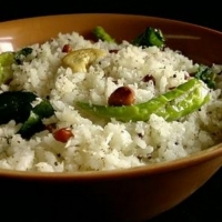 Indian Coconut Rice Dinner