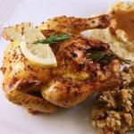 American Cornish Game Hens with Garlic and Rosemary Recipe Appetizer